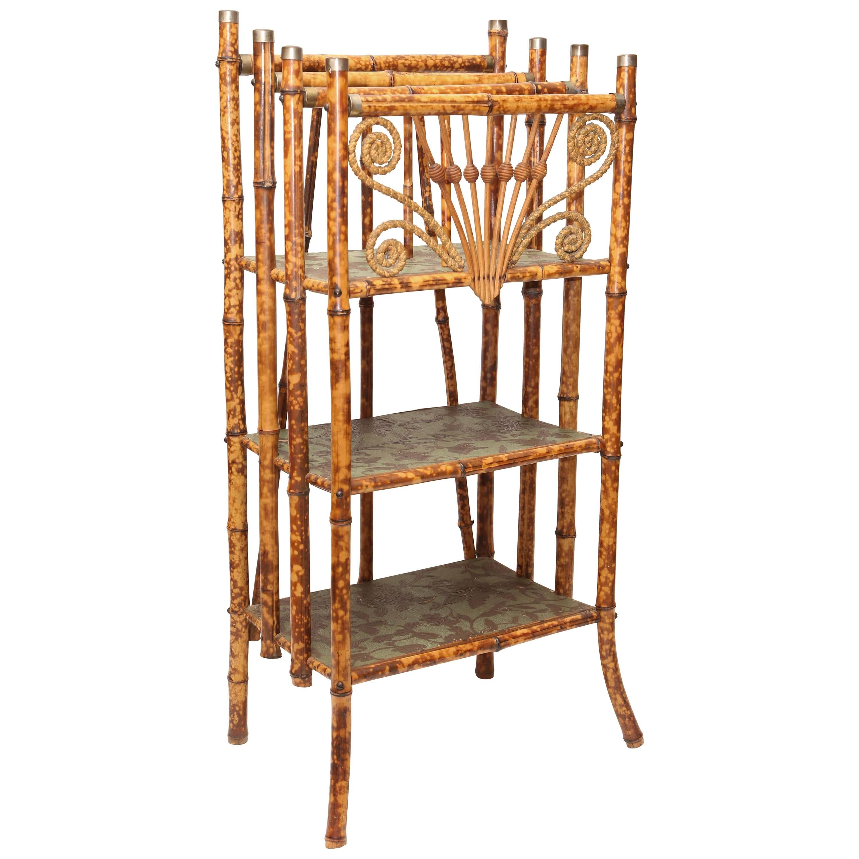 19th Century English Bamboo Canterbury Magazine Rack