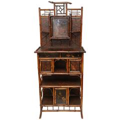 Fine English Aesthetic Movement Bamboo Etagere