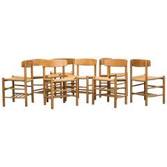 Børge Mogensen Set of Eight Chairs