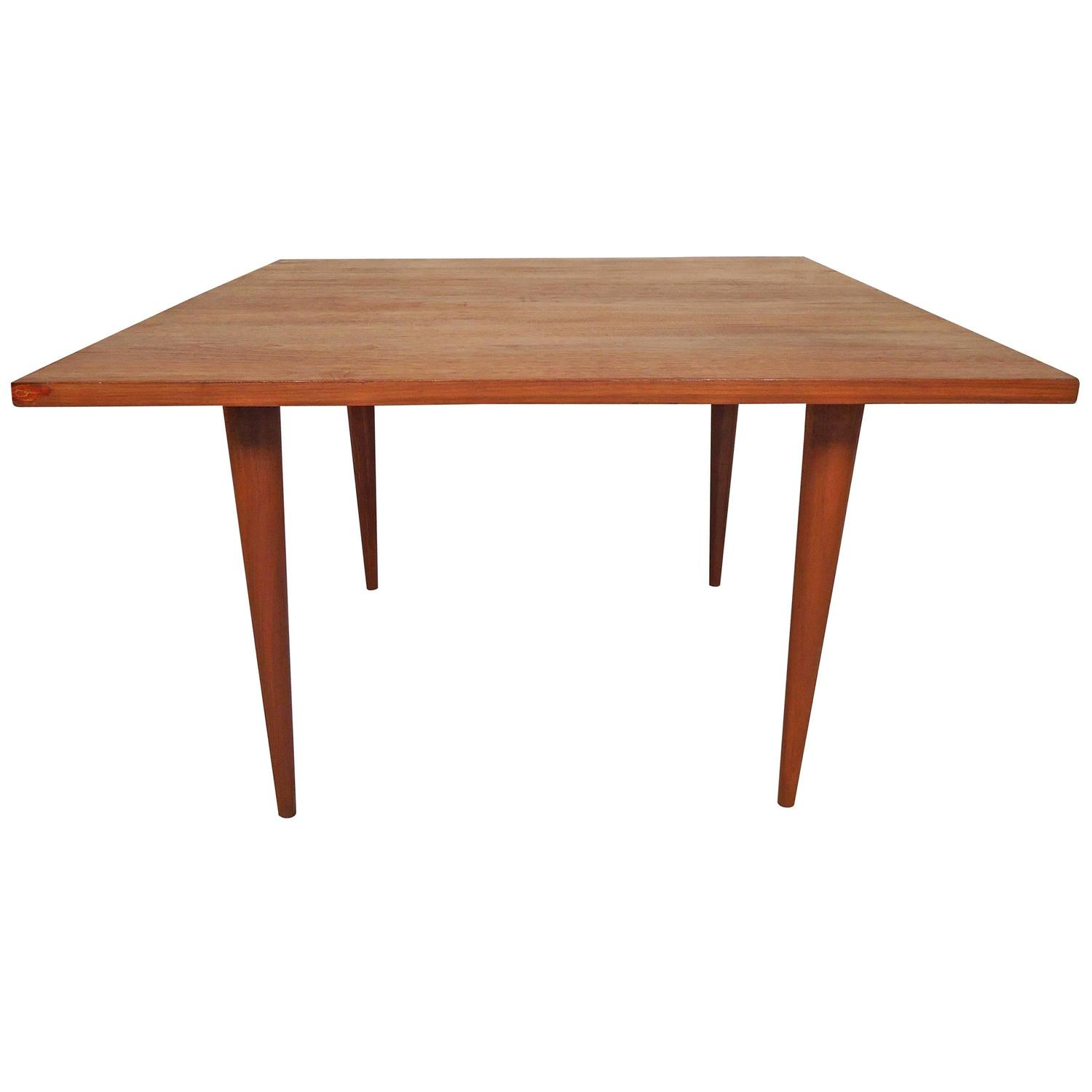 Mid-Century Modern Square Coffee Table In The Style Of