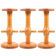Set of Three Scandinavian Bar Stools