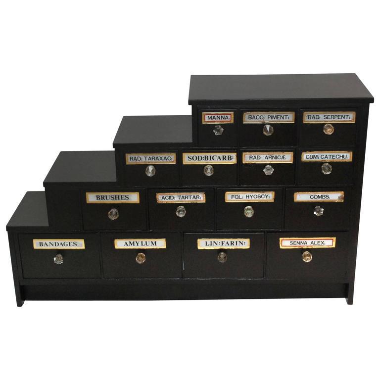 Antique English Apothecary Cabinet
