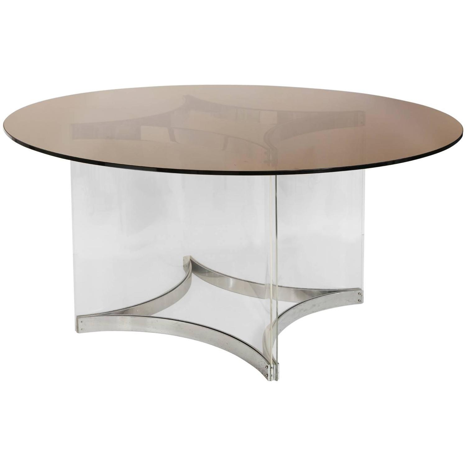 Alessandro Albrizzi Lucite and Chrome Dining Table circa  : 5320603z from www.1stdibs.com size 1500 x 1500 jpeg 43kB