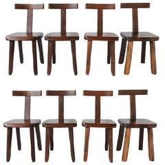 Set of Eight Walnut Chairs by Olavi Hanninen