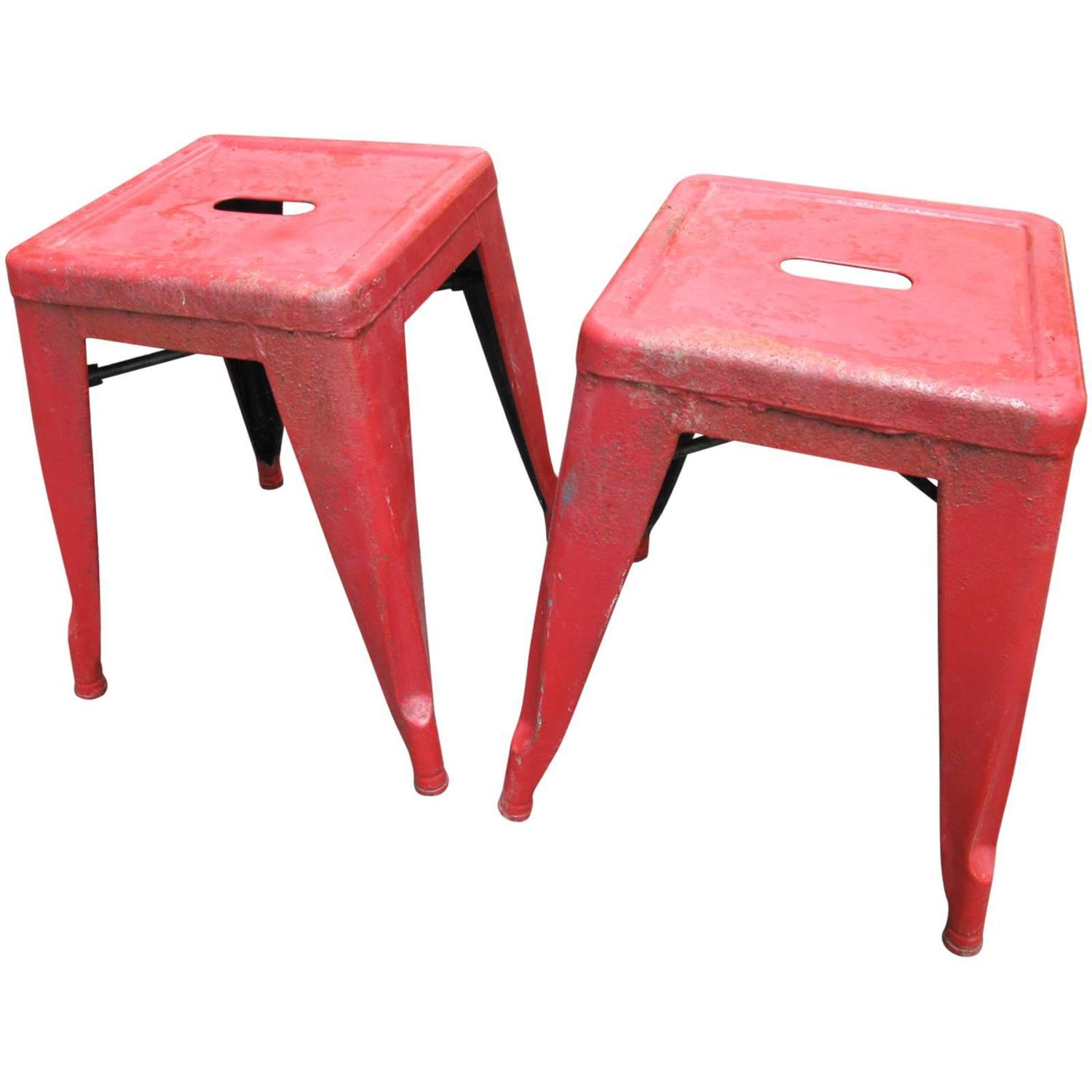 Pair Of Tolix Marais Stools For Sale At 1stdibs