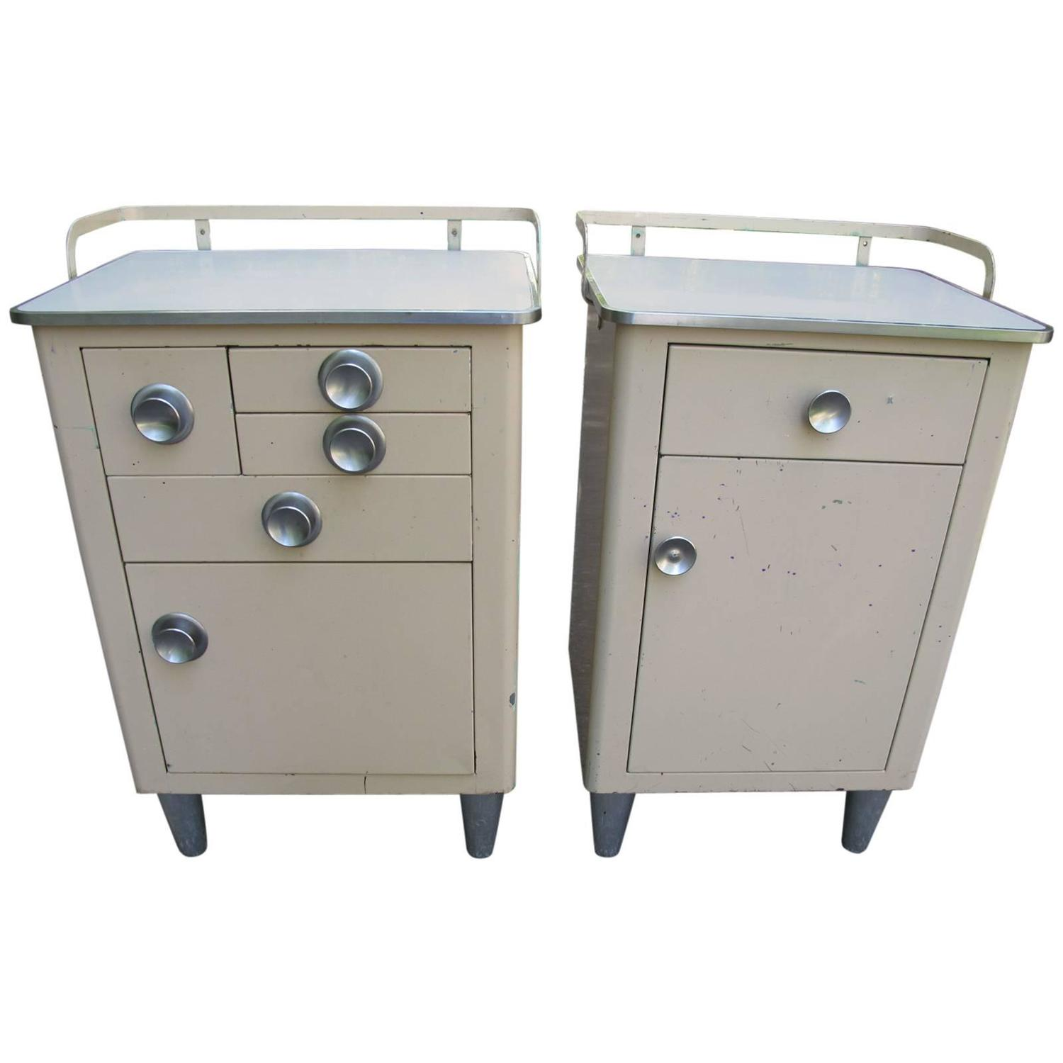 Pair of american 1940s steel medical cabinets for sale at for 1940s kitchen cabinets for sale