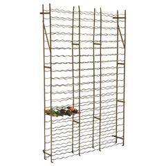 Extra Large French Steel Wine Crate or Mountable Cage