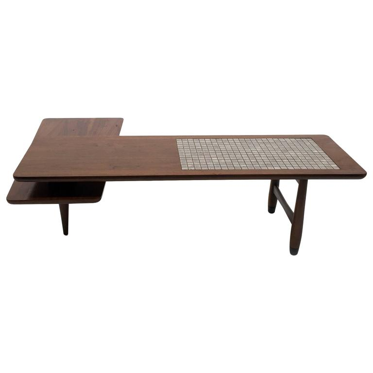 Lane Switchblade Two Tier Swivel Coffee Table With Ceramic Tile For Sale At 1stdibs