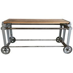 Industrial Cast Iron Wall Console
