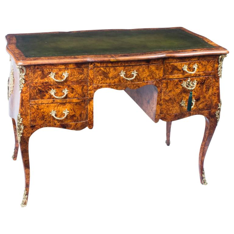 Antique French Pollard Oak Writing Table Desk, circa 1850 1 - Antique French Pollard Oak Writing Table Desk, Circa 1850 At 1stdibs