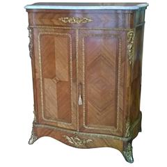 Late 19th Century French Kingwood Serpentine Salon Cabinet
