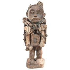Late 19th Century Bakongo Peoples Carved Wood Fetish or Power Figure