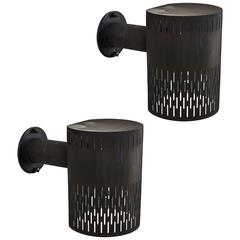 Pair of Perforated Copper Sconces by Ateljé Lyktan