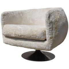 Swivel Armchair in the Style of Joe D'Urso