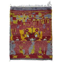 Small Tulu Rug with Abstract Design