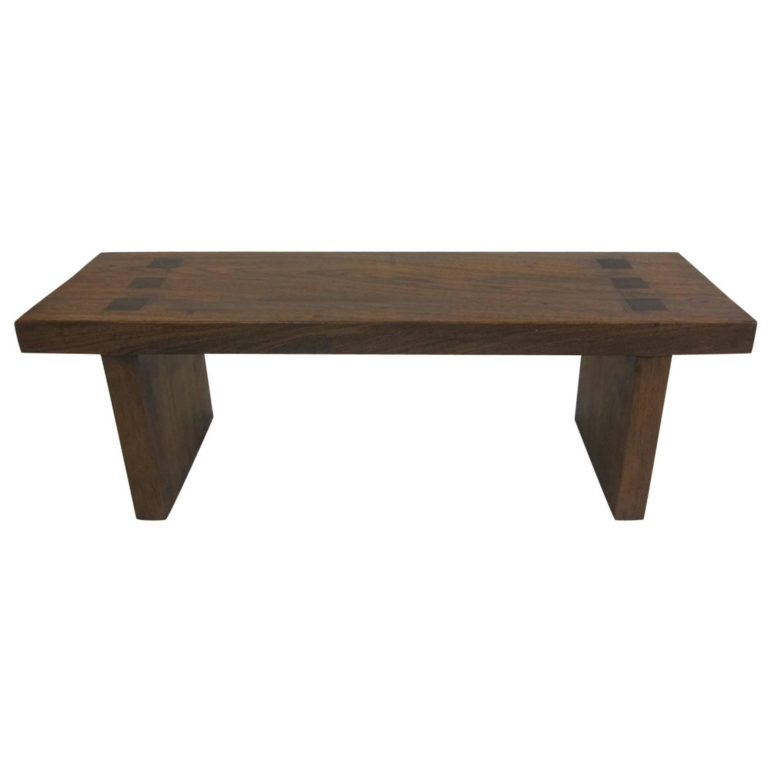 Teak Low Bench Table For Sale At 1stdibs