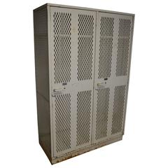 Hockey Gym Locker Unit of Steel with Two Wide, Deep Compartments