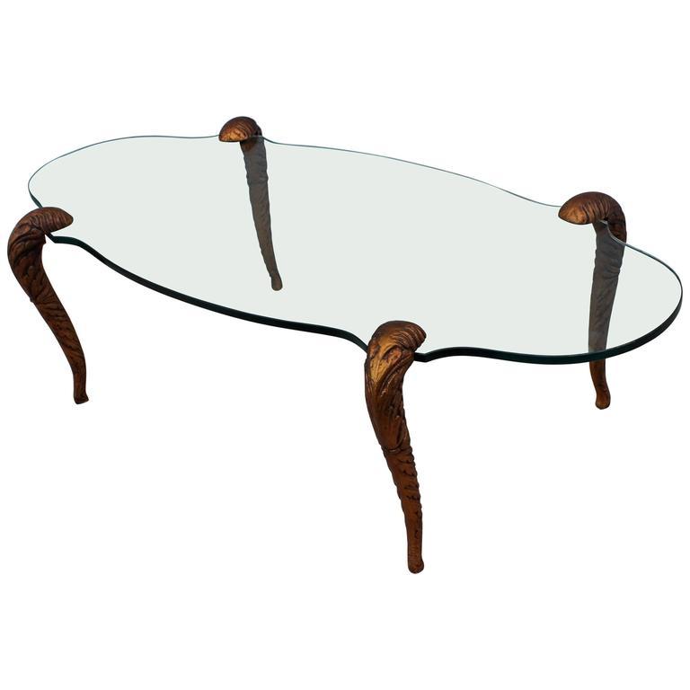 P.E. Guerin Style Gilt Bronze Coffee Table