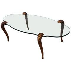 P.E. Guerin Style Gilt Legs Coffee Table
