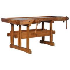 19th Century Carpenter's Workbench, circa 1900