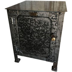 Early 1900 Hundred Industrial Metal Cabinet