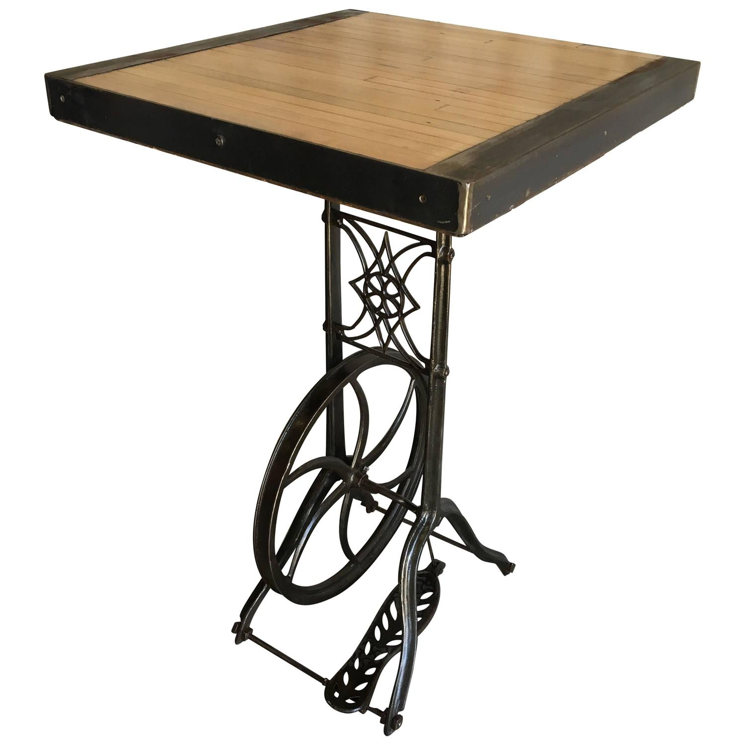 High Tables For Sale: Hightop Table On Industrial Base For Sale At 1stdibs