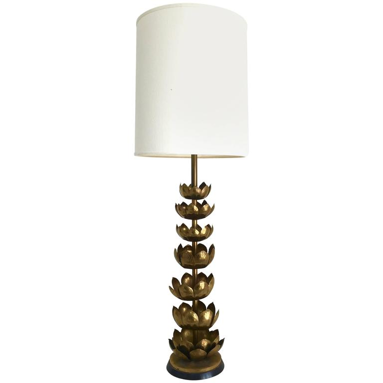 Monumental iconic brass lotus lamp by feldman at 1stdibs for Iconic design lamps