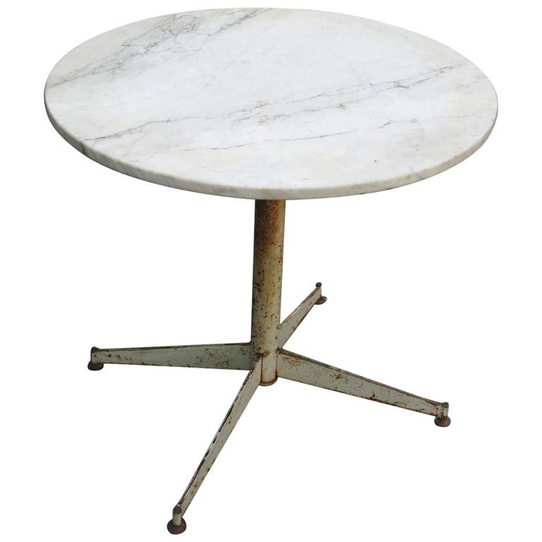 Mid Century Modern Marble Table: Mid-Century Modern Marble Cafe Table At 1stdibs