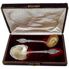 Soufflot French Sterling Silver 18-Karat Gold Strawberry Set Musical Instrument