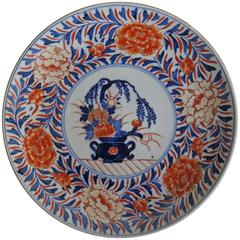 "Mid-19th Century Japanese, Porcelain ""Imari"" Plate, Hand Enameled and Gilded"