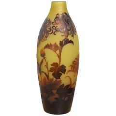 Large French D'Argental Cameo Vase, circa 1920