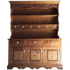 Fabulous Antique Style Large Welsh Dresser Solid Pine Farmhouse Spice Drawers