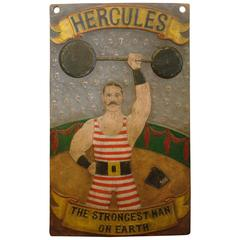Fantastic Circus, Carnival Advertising Wooden Sign Folk Art, Americana