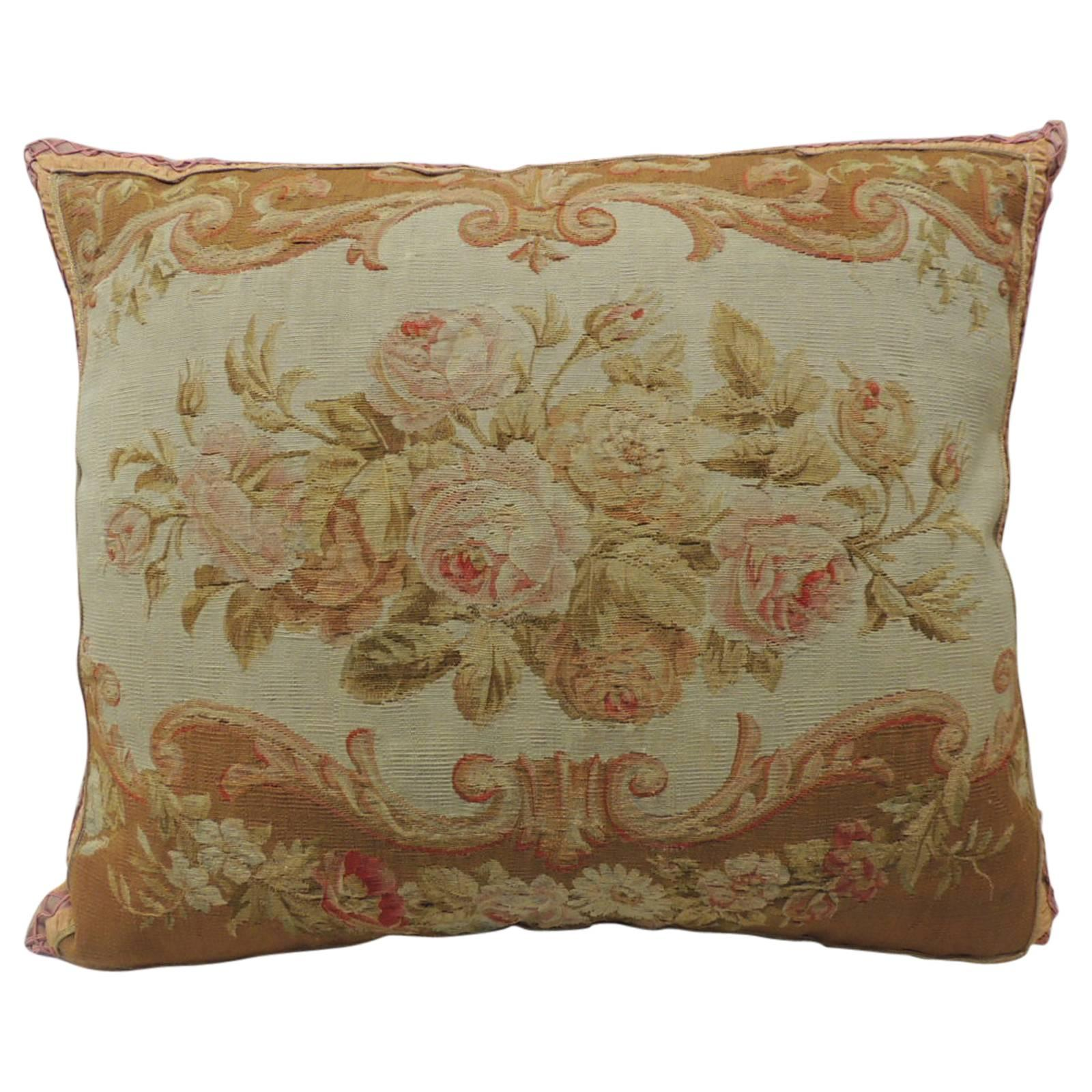 18th Century Verdure Tapestry Decorative Pillow With Antique Trim For Sale At 1stdibs