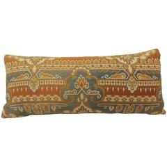 19th Century Arts & Crafts Long Bolster Decorative Pillow