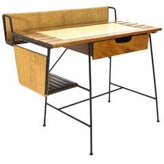 Iron and Wood Desk by Arthur Umanoff