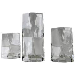 "Remarkable Set of 33 ""CIBI"" Crystal Glasses by Cini Boeri for Arnolfo di Cambio"