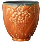 Unique Art Deco Vase with Stylized Fish, 1930 by Hentschel for Rookwood