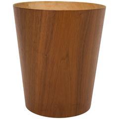 Rainbow Wood Products Teak Wastebasket