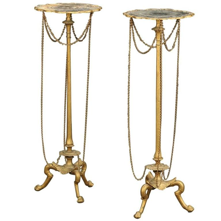 Pair of Late 19th Century Neoclassical Torchieres or Candlestands