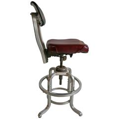 Rare GoodForm Adjustable Aluminum Drafting Stool, Industrial Elegance