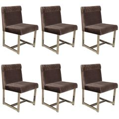Set of Six Style of Milo Baughman Dining Chairs by Comfort DINING CHAIR SALE