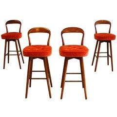 Rosengren Hansen Danish Set of Four Bar Stools
