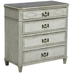 Swedish Gustavian Period Painted Chest, 18th Century