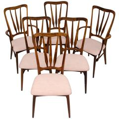"Set of Six Danish ""Ingrid"" Rosewood Dining Chairs by Koefoeds Hornslet"