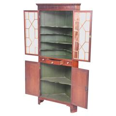 Antique Mahogany George III Double Corner Cabinet, circa 1800