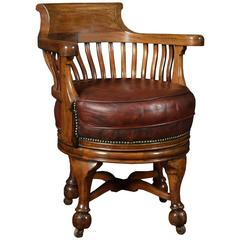 Victorian Mahogany Swivel Desk Chair