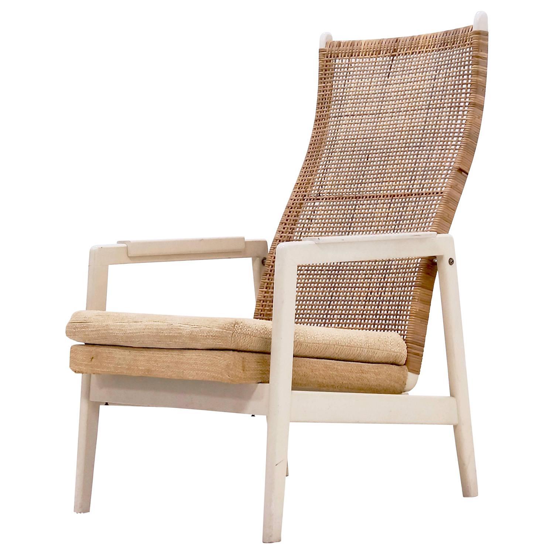 Mid Century P J Muntendam Rattan Lounge Chair Dutch