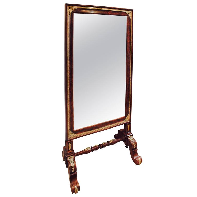 French Empire Style Cheval Mirror, 19th Century