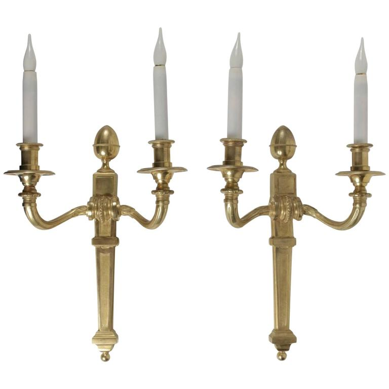Pair of Bronze Dore Sconces in the Style of Louis XV from the 19th Century